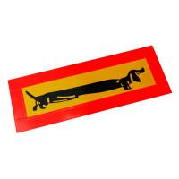 Светоотражающая наклейка длинномер Такса 90х20см 1шт.