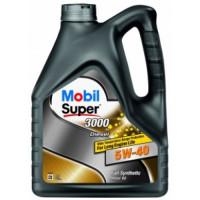 Моторное масло Mobil Super 3000 X1 DIESEL 5W-40  4л (Fully synthetic) (новый номер 152062)