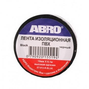 Изолента ABRO (черная) 19мм*9, 1м ET912B