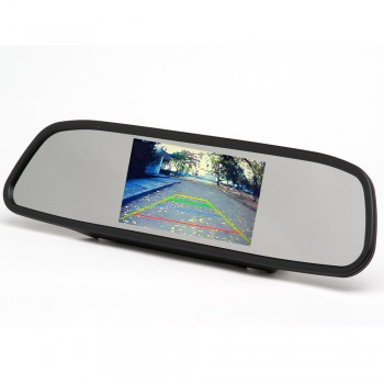 """Зеркало со встроенным монитором  размер 4.3""""(4:3)"""