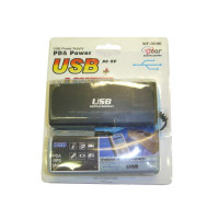 Разветвитель автомобильного прикуривателя на 3 гнезда + USB C-032
