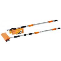 Швабра с насадкой для шланга, щеткой 25 см и телескопической ручкой 300 см AB-H-05