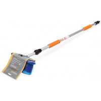 Швабра с насадкой для шланга, щеткой 20 см и телескопической ручкой 150 см AB-H-02