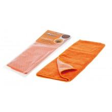 Салфетка из микрофибры и коралловой ткани AB-A-04 оранжевая (35x40 см)
