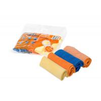 Набор салфеток из микрофибры в рулончиках 4 шт. 20х20 см. AB-V-02