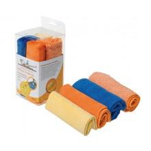 Набор салфеток из микрофибры и искусственной замши в блистере 4 шт. (30х30 см) AB-V-07