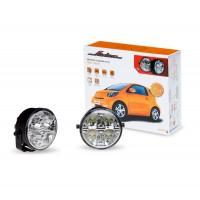 Дневные ходовые огни 1 Вт х 8 LED с блоком управления ADRL-1W8-07