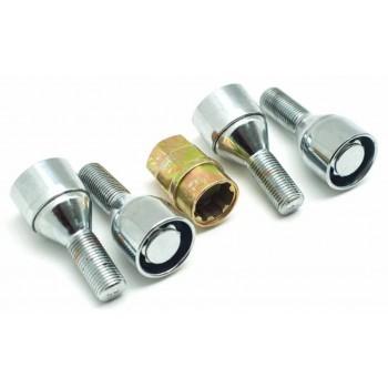 Болты секретные Сервис ключ (комплект 4 шт.) М12*1,25 длина 28мм, общая 56мм 73401