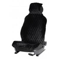 Накидка из искусственного меха, черная с коротким ворсом, на переднее сидение, 1 шт. AFC-A-04
